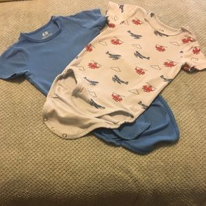 H&M Bundle:: 2 Blue/ Gray Helicopter 🚁 Onesies